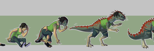 COM Dinosaur transformation for Nolhyaa by FauvFox