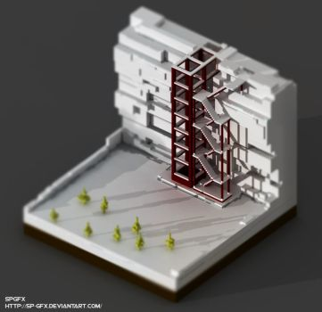 Game of Thrones : The Wall  -  Voxel by SP-GFX