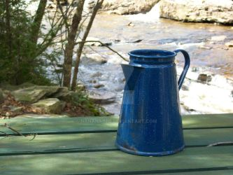 Blue kettle by NaNanaimo