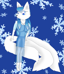 Anya the 3 Tailed Arctic Fox by KendraTheShinyEevee