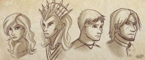 Character Portrait Sketches by Sawuinhaff