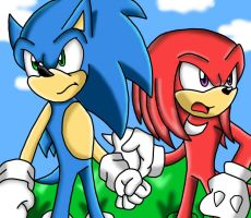 Sonic and Knuckles by Shadow4one