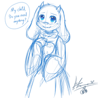Toriel Sketch by chichicherry123