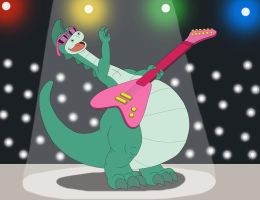 Denver the Rock Star Dinosaur by MCsaurus