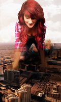 Giantess Kitty's Vegas Rampage by dochamps