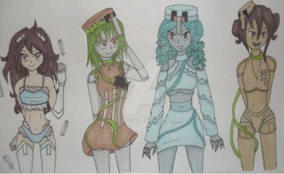 mine craft girls by Jeanette9a