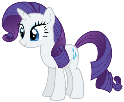 Rarity Standing by AlmostFictional