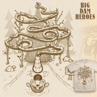 Big Dam Heroes t-shirt by InfinityWave
