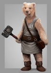 Bear Warrior- Character design by IroPagis