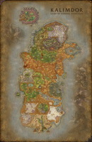 World of Warcraft Kalimdor map | Fanart by SolarielDawnstar