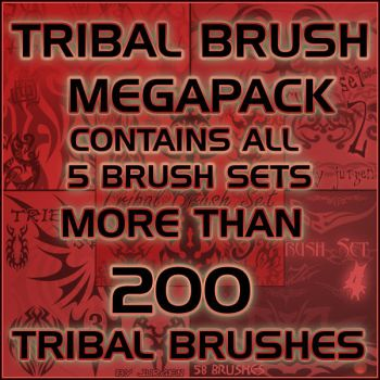 Tribal Brush Megapack by narvils