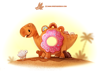 Daily Paint #1252. Donusaur by Cryptid-Creations