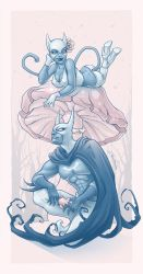 Batman and Catwoman: Smurfed by aleksandracupcake