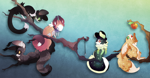 Foxmouse Tree! (sold) by QuillCoil