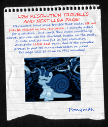 LOW RESOLUTION TROUBLES AND LLBA 112! by PONYMAAN