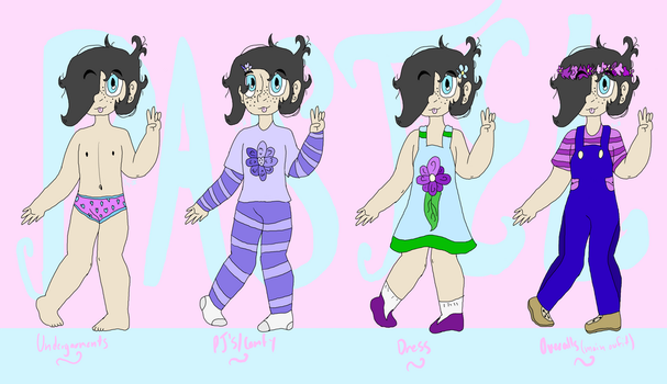 Pastel Elizabeth Color Ref. Sheet by MagiKatt