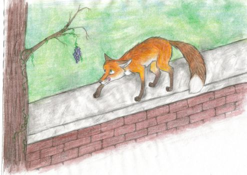 Fox and Grapes by ariastrife