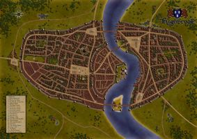 Highbrook - Fantasy Map by Pauldew