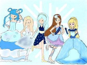 Snowflake Royalty February Designs by aliciadreamart