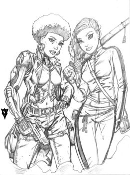 Coleen Wing and Misty Knight by RevolverComics