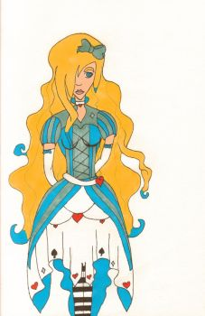 Alice In Wonderland colored by unknownxmurexa