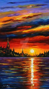Morning sky by Leonid Afremov by Leonidafremov