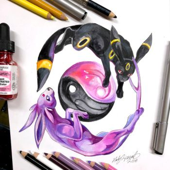 13- Umbreon and Espeon by Lucky978