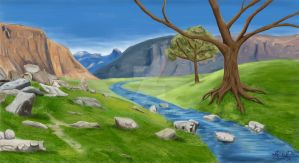 Valley Landscape by Celleno