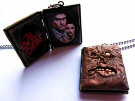 The Evil Dead - Necronomicon Locket Pendant by PaintIt13lack