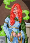 Ceridwen Sketch Card - Classic Mythology II by ElainePerna