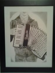 Boy with Accordian finished by highland-princess