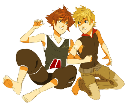 roxas and sora by maplekeurig