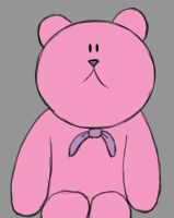 Pink Bear Daily sketch #857 by GothicVampireFreak