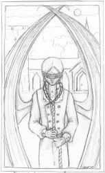 The Blind Man - pencil lineart by Chajiko