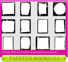 Painted Masks, Large by comeundone