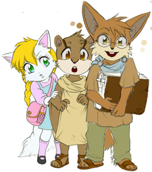 Touval, Skitter, and Kathra by Michelay