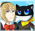 [Contest Entry] P3xP5 - Aigis and Morgana by hermes-sama