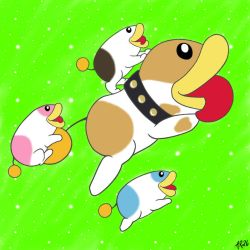 Poochy And Puppies by AyaRaptor26