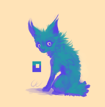 3 color cat thing by Wolframclaws