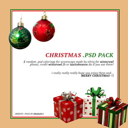 XMAS .psd pack - winterowl / taxitoheaven by taxitoheaven