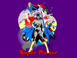 Dc Heroines - Super Power T-Shirt Wallpaper by Superman8193
