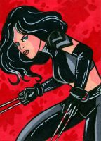 Sketch card X-23 by RichBernatovech
