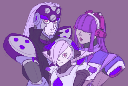 The Purple Ones by LittleSocket