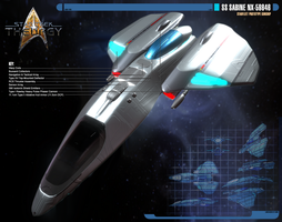 SS Sabine NX-59846 | Prototype Gunship | Front by Auctor-Lucan