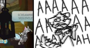 Roleplaying moments: Screaming Violently by PancakesMadness