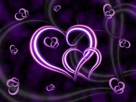 Purple Hearts Wallpaper by lavadragon