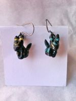 Finished Umbreon Earrings by nemuineko85