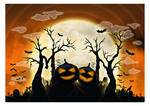 spooky halloween MOON by Hucklemary