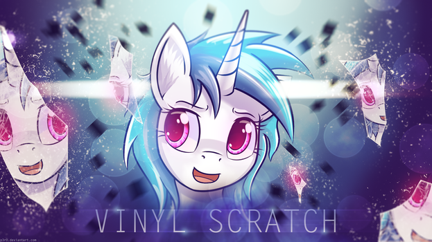 Vinyl Scratch: Shattered Mind - 4k Wallpaper by P3r0