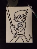 Inktober 2014: Day One. Scott Pilgrim. by CharismaKillsStudios